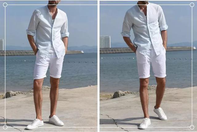 短裤+上衣穿搭,颜色不同搭配更加时尚